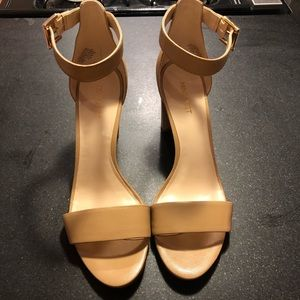 Nine West 10.5 nude block heels NWT